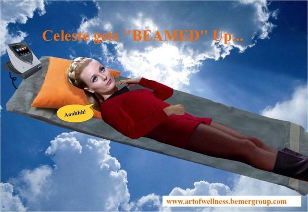 Celeste gets Beamed up