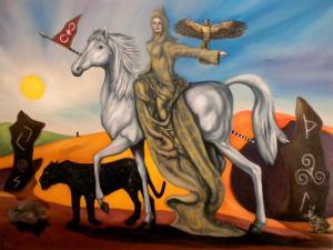 Heroine's Journey by Nazim Artist Oil on Canvas