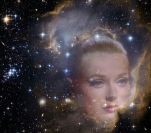 Celeste Yarnall's  Photo created from her Star Trek photo by Paul Mason