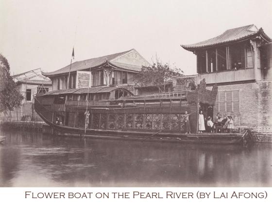 Huafang-boats----Guangzhou,_Pearl_River_by_Lai_Afong,_c1880